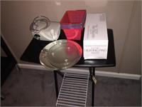 Small Folding Table, 2 Baskets, Oxygen Machine,