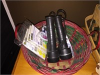 Three Fancy Baskets, Two Flashlights and