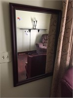 Framed Wall Mirror (Not Photo of Chair)