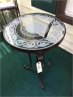 Nice Patio Tables With Light Under Frosted Top
