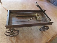 Wood Pull Cart With Collectible Nozzle