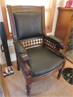 Leather & Wood Chair