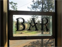 Bar & Relax Glass Signs