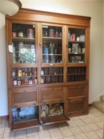 Wood Display Cabinet Not Including Contents. Pleas