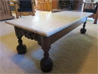 Stone & Wood Coffee Table