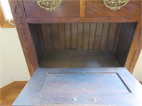 Wood Marble Top Cabinet