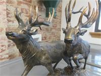 "Marc Pierce ""Twin Trophies"" Elk Figurine"