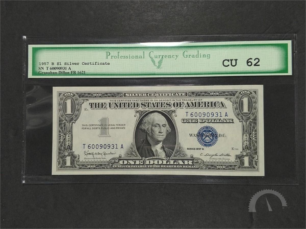 Us Treasury 1957 B 1 Silver Certificate Cu 62