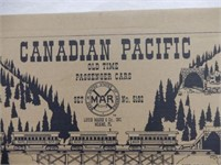 MARX CANADIAN PACIFIC OLD TIME PASSENGER CARS /BOX