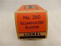 LIONEL TRAINS NO. 260 ILLUMINATED BUMPER / BOX