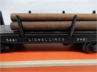LIONEL TRAINS NO 3461 AUTOMATIC LUMBER CAR  / BOX