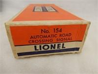LIONEL ELECTRIC TRAINS NO.154 ROAD CROSSING SIGNAL