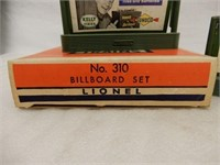 LIONEL ELECTRIC TRAINS NO. 310 BILLBOARD SET / BOX