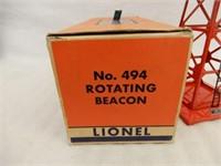 LIONEL TRAINS NO. 494 ROTATING BEACON/ BOX / NOS