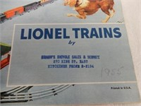 LOT OF 2 LIONEL CATALOGUES