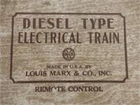 MARX DIESEL TYPE ELECTRIC TRAIN NO. 44544 / BOX