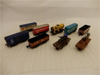 LOT OF MARX RAILWAY MODEL CARS +- NO BOXES