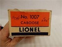 LIONEL ELECTRIC TRAINS OBSERVATION CAR / BOX