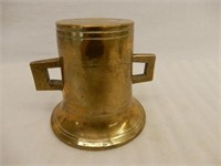 CIRCA 1860 HEAVY BRASS 2 HANDLE BELL
