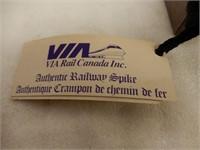 VIA RAIL CANADA  AUTHENTIC RAILWAY SPIKE