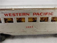 LOT OF 5 MARX WESTERN PACIFIC MODEL TRAINS