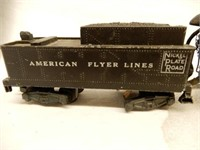 GROUPING OF AMERICAN FLYER ENGINE & CARS