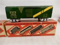 LOT OF 2 MARX  3555 RAILWAY BOX CARS/ NEW IN BOX