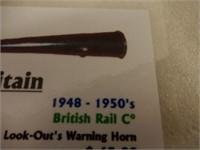 RARE 1948-1950 BRITAIN BRITISH RAIL C WARNING HORN
