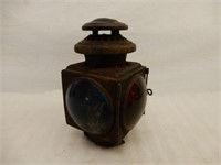 ANTIQUE E&J RAILWAY CABOOSE SIGNAL LIGHT