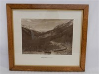 FRAMED CANADIAN ROCKIES SPIRAL TUNNEL PRINT