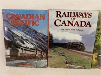 LOT OF 4 CANADIAN RAILWAY HARD COVERED BOOKS