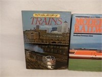 LOT OF 3 RAILWAY HARD COVER BOOKS/ DUST COVERS