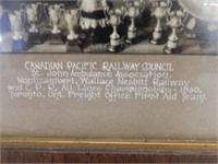 FRAMED CANADIAN PACIFIC RAILWAY COUNCIL PICTURE