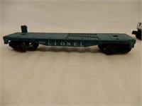 LOT  LOCOMOTIVE & LIONEL 3 FLAT CARS / NO BOXES