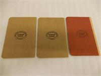 GROUPING OF 3 RAILWAY STOKER OPERATION BOOKLETS
