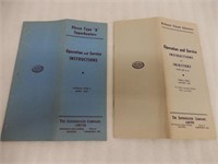 LOT OF 2  CANADIAN SUPERHEATER  INSTRUCTIONS