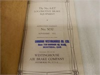 LOT OF 6 RAILROAD EMPLOYEES BOOKLETS