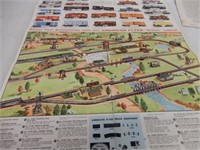 GROUPING OF 3 VINTAGE AMERICAN FLYER FOLDOUTS +
