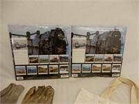LOT 2003 TRAINS CALENDAR -CNR WORK SAFELY GLOVES+