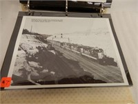 VINTAGE TRAIN  PHOTOS, PRINTS INFORMATION BINDER