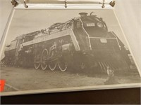 VINTAGE LOCOMOTIVE PRINTS & BROCHURES BINDER