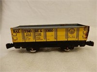 LOT OF 7 WIND-UP RAILROAD ENGINE & CARS