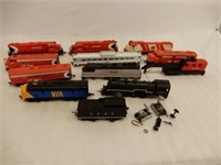 GROUPING OF RAILROAD ENGINES & TRAIN CARS