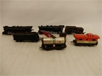 GROUPING OF AMERICAN FLYER ENGINES + MISC. CARS