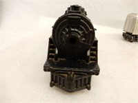 LOT OF RAILROAD ENGINE, CARS, TRACK, ACCESSORIES