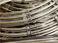 LARGE GROUPING OF 3 RAIL CURVED & STRAIGHT TRACK +