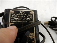 GROUPING OF 3 MARX TOY RAILWAY TRANSFORMERS