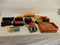 LOT OF RAILROAD ENGINE, CARS, TRANSFORMERS+