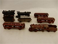 GROUPING OF CAST IRON MODEL RAILWAY TRAINS +