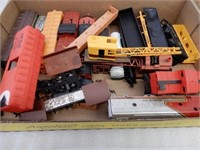 LOT OF RAILWAY PLASTIC SMALL ENGINES & CARS+